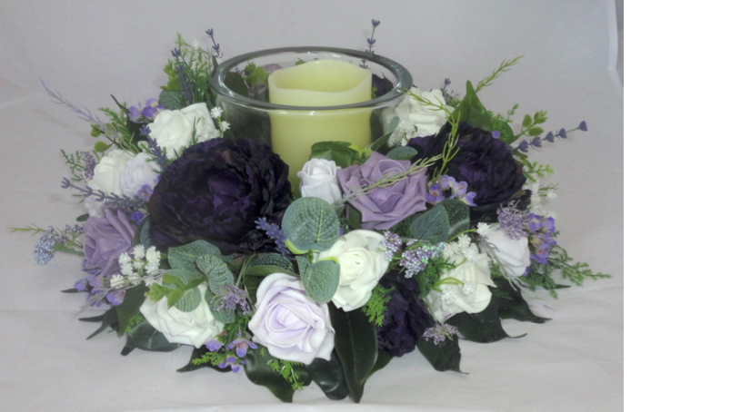 Aubergine, Lilic & Heather Centrepiece Wreath