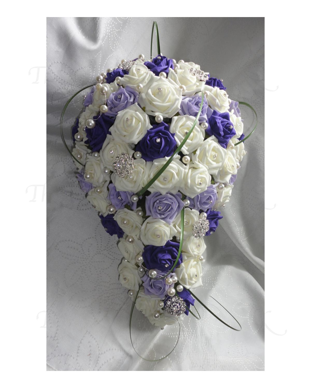 Cadbury Purple Silk Wedding Flowers : Bridal shower bouquets teardrop wedding the