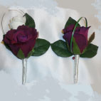 Plum Rose Buttonhole