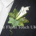 Groom Real Touch Calla Lily Buttonhole