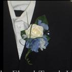 Blue Hydrangea & Rose Buttonhole