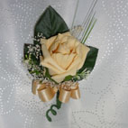 Champagne Gold Rose Buttonhole
