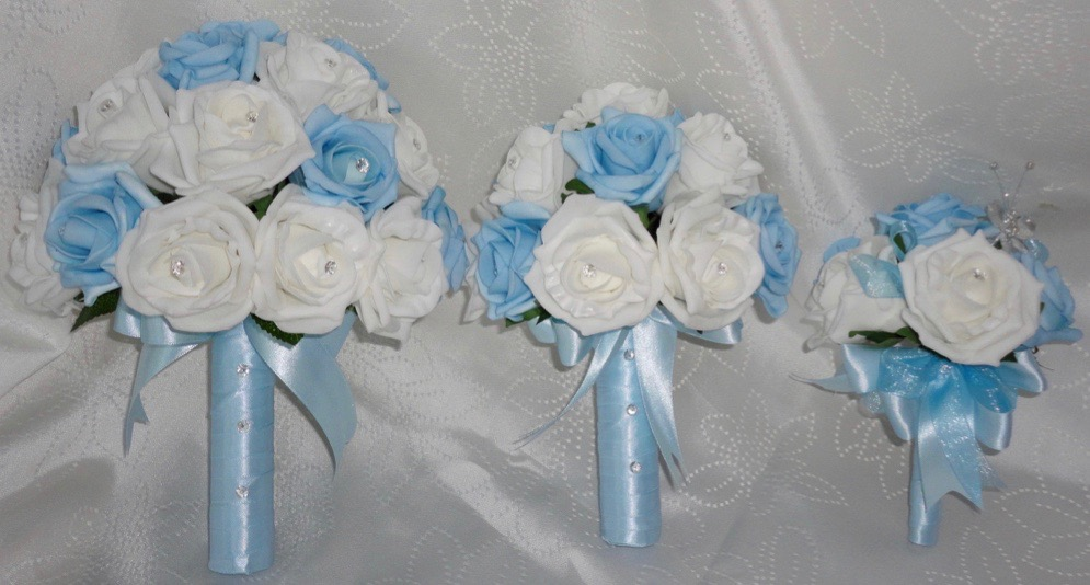 best light blue wedding flowers photos styles ideas 2018. Black Bedroom Furniture Sets. Home Design Ideas