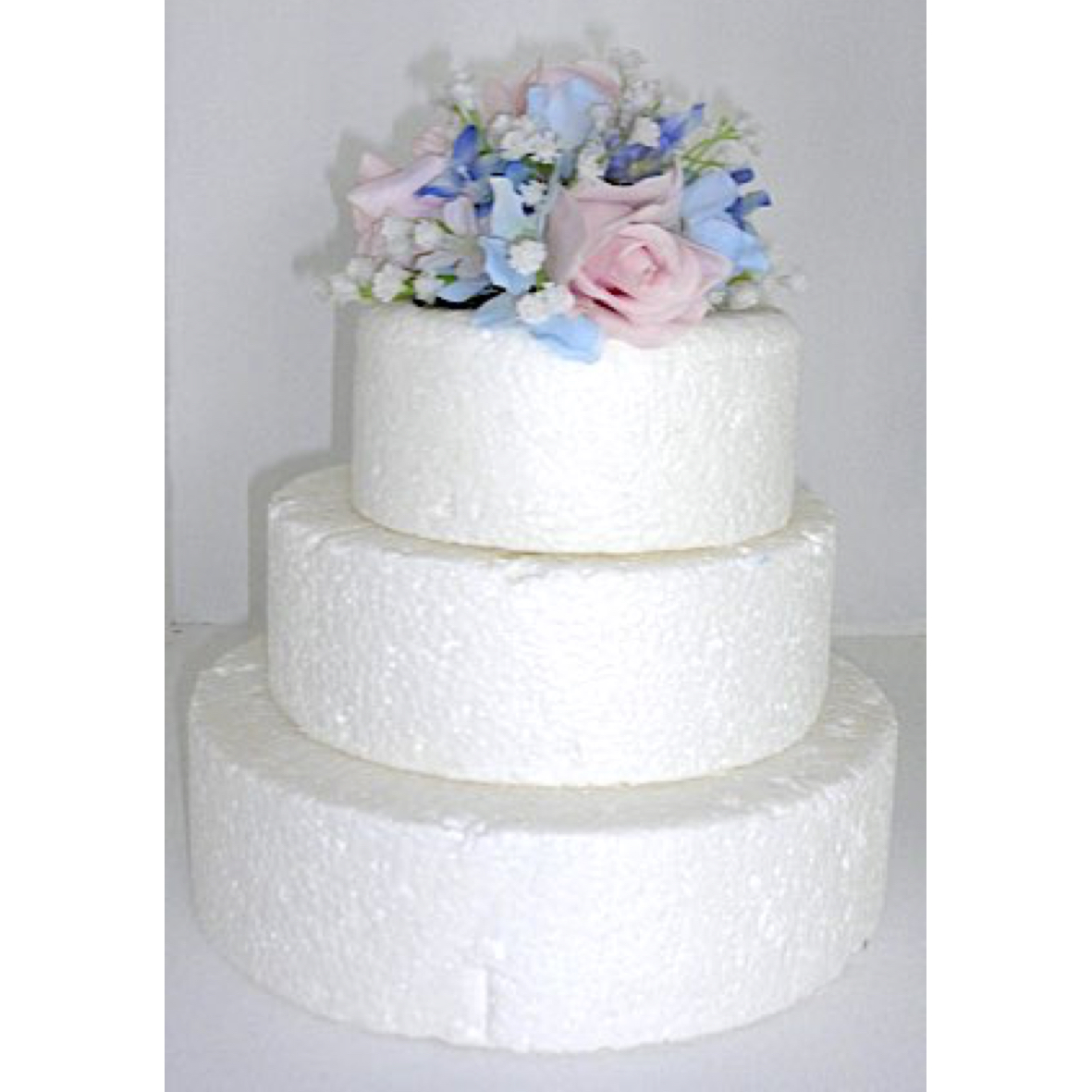 Pink & Blue Cake Flowers