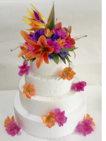 Tropical Bird of paradise Cake Topper
