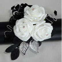 Black & White Prom/Wedding Corsage