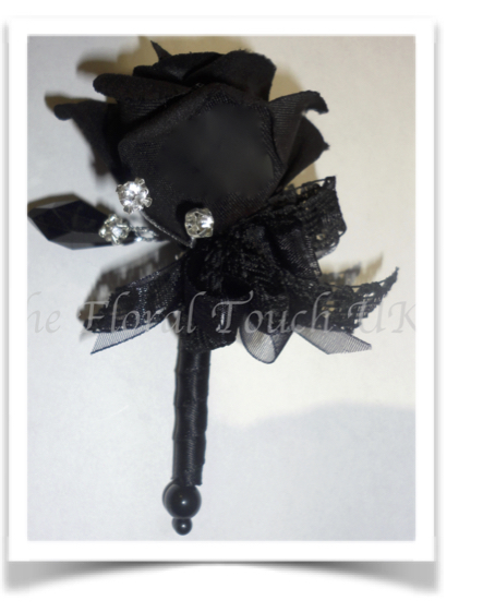 Black Rose Buttonhole