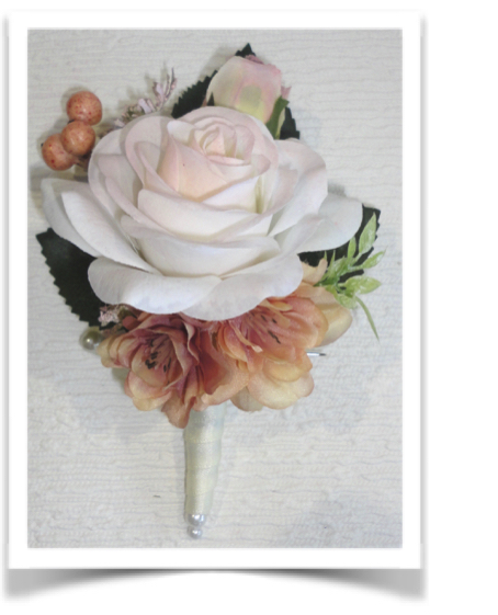 Blush Fresh Touch Rose Buttonhole