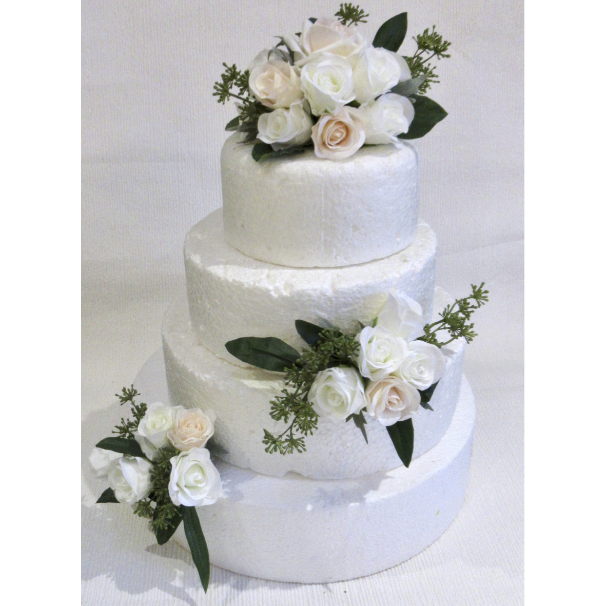 Blush and Ivory Cake Flowers for weddings