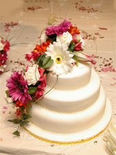 Gerbera, Freesia and Rose trailing Cake Topper