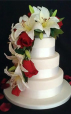 Tiger Lily & Rose Cake Cascade Spray