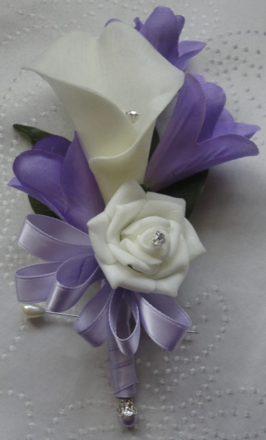 Real Touch Calla Lily with Lilac Freesia