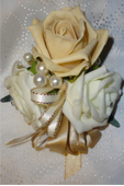 Pale Gold & Ivory Rose Corsage