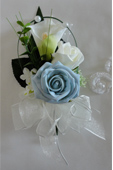 Real Touch Calla Lily & Blue Rose Wedding Corsage