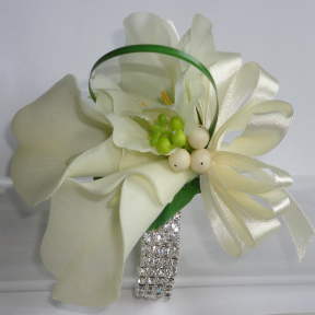Real Touch Lifelike Calla Lily Wrist Corsage