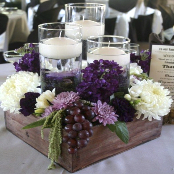 silk flower wedding centrepieces