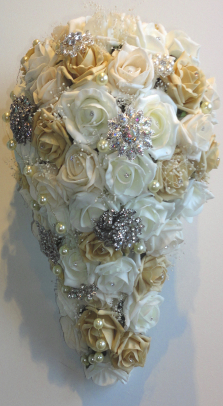 Champagne Gold, Ivory & Cream Wedding Bouquet
