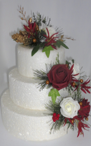 Christmas Wedding Cake Flowers