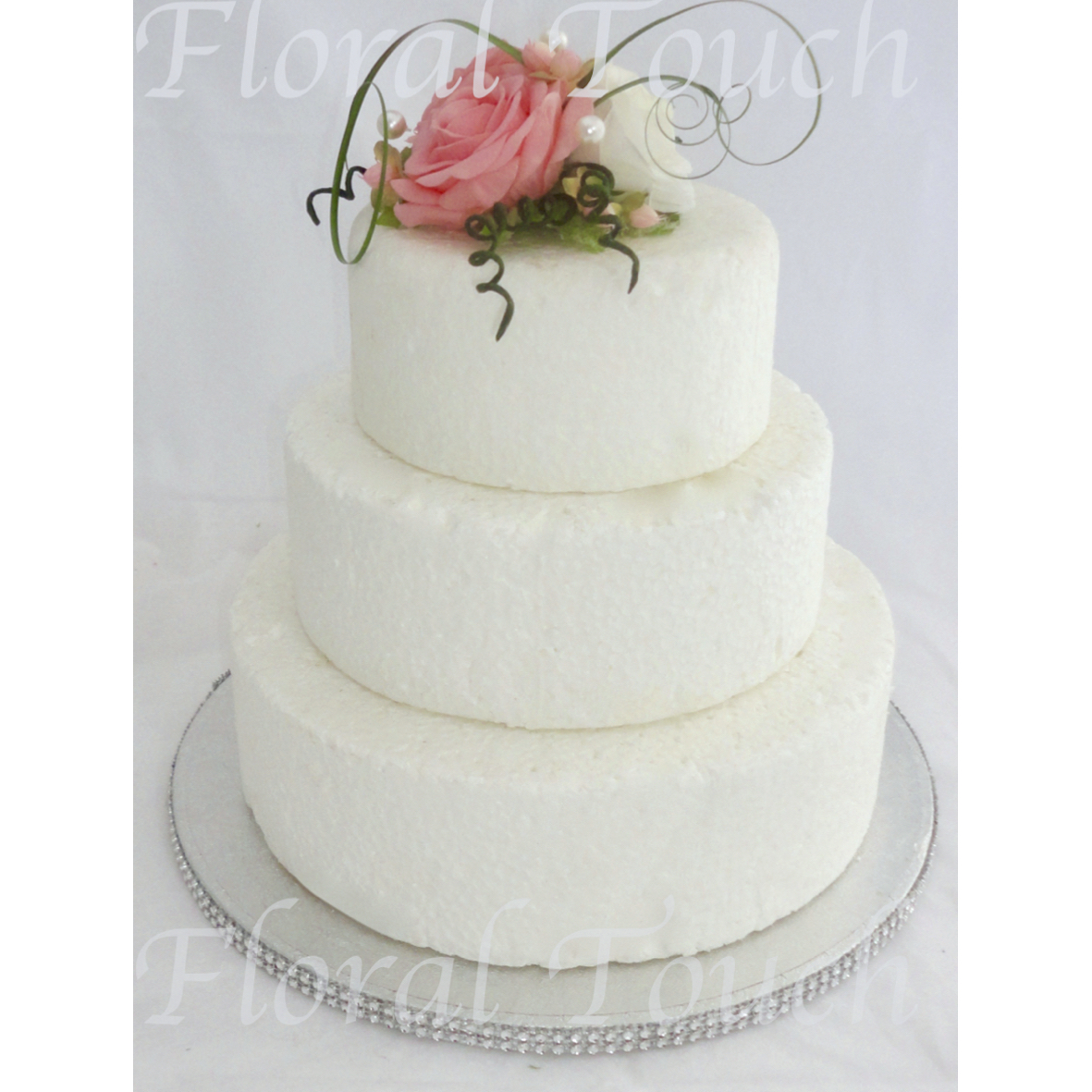 Coral & Ivory Cake Flowers