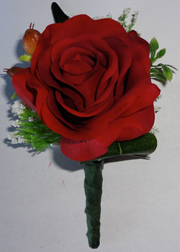 Fresh Touch Red Rose Buttonhole