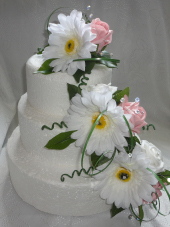 Gerbera & RoseCake Tier Displays
