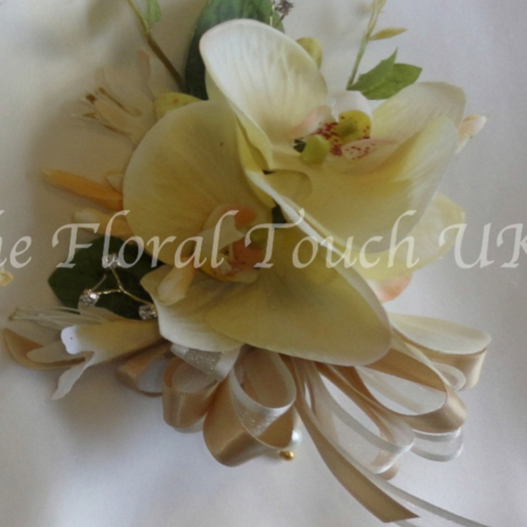 Real Touch Lifelike Orchid Corsage