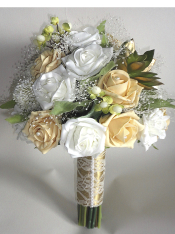 Gold & Ivory Wedding Bouquet