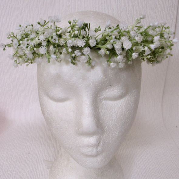 GYPSOPHILA CROWN HEADDRESS FOR FLOWER GIRL