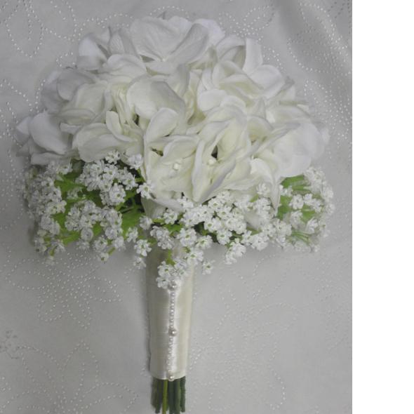 Hydrangea Gypsophila Wedding Bouquet