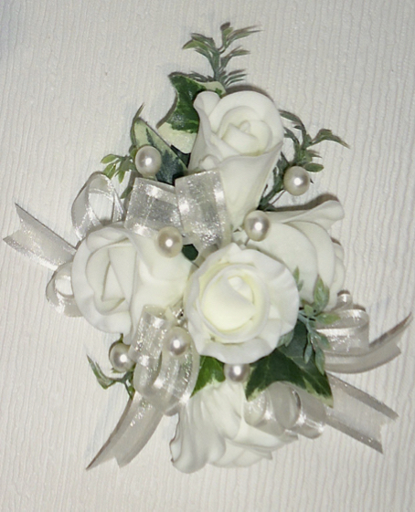 Pale Ivory Rose Bud Corsage