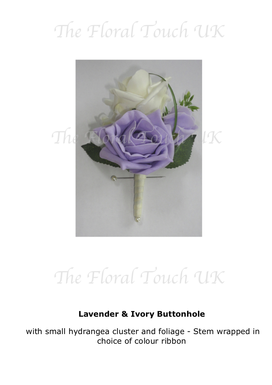 Silk Buttonholes | Buttonaires For Weddings | The Floral Touch UK