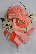 Light Coral Fresh Touch Rose Corsage