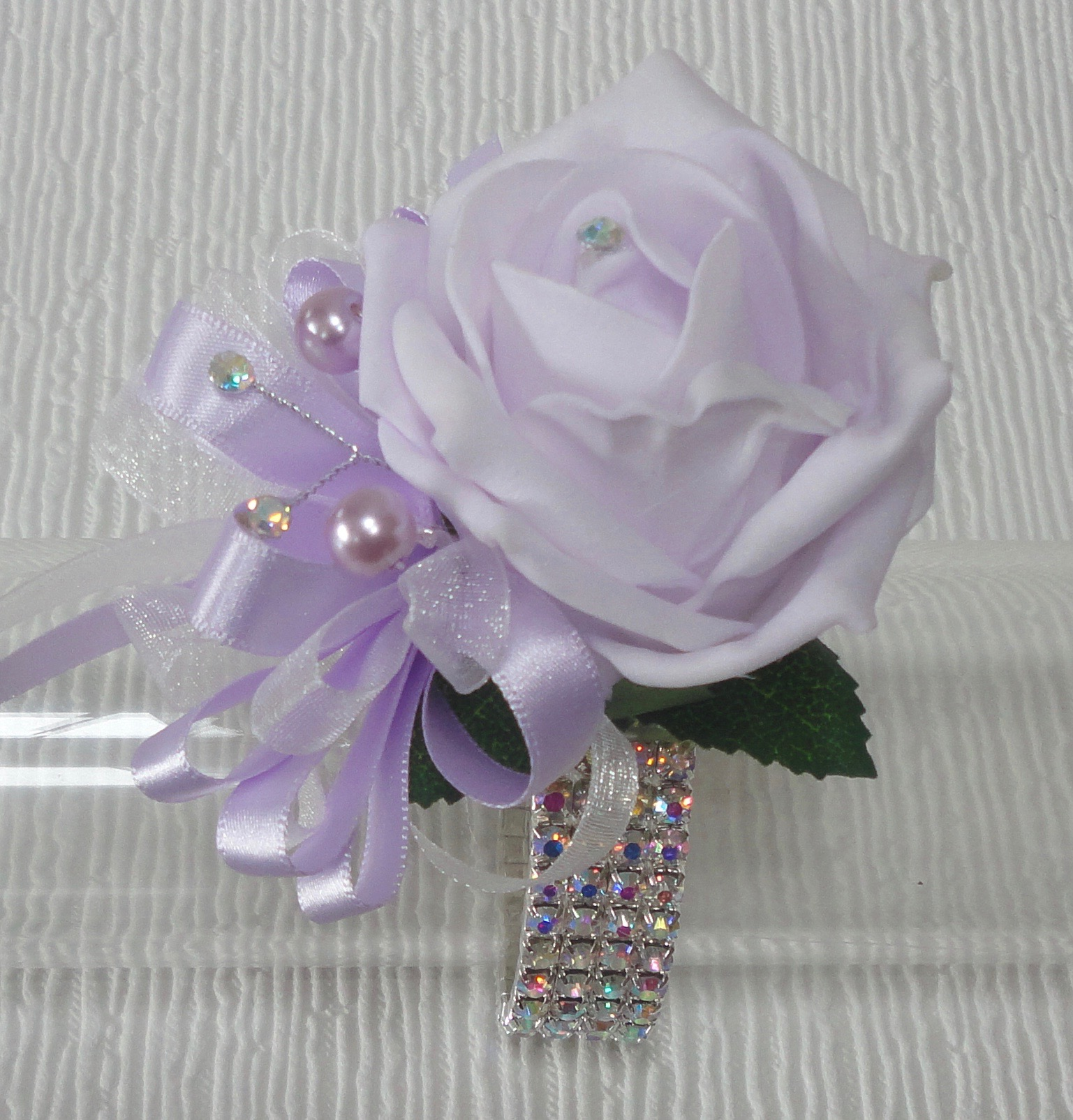 Lilac Prom Wrist Corsage