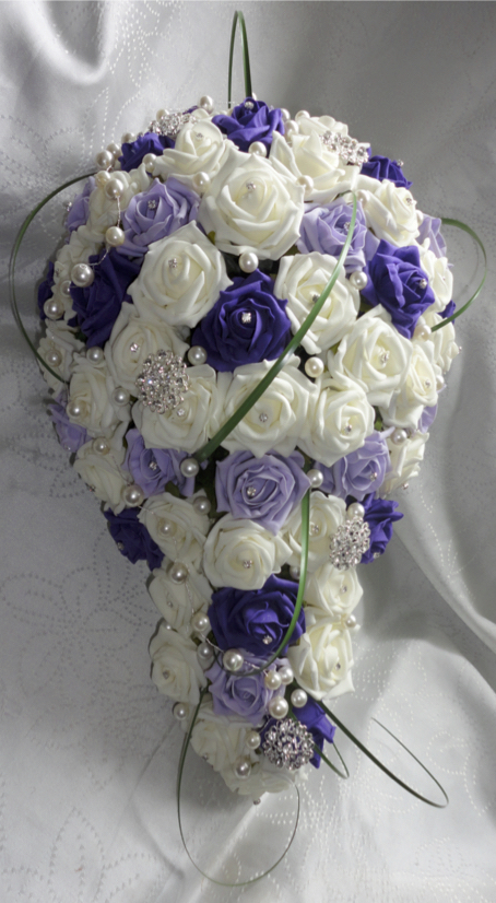 Lilac, 'Cadbury' Purple and Ivory Bridal Shower