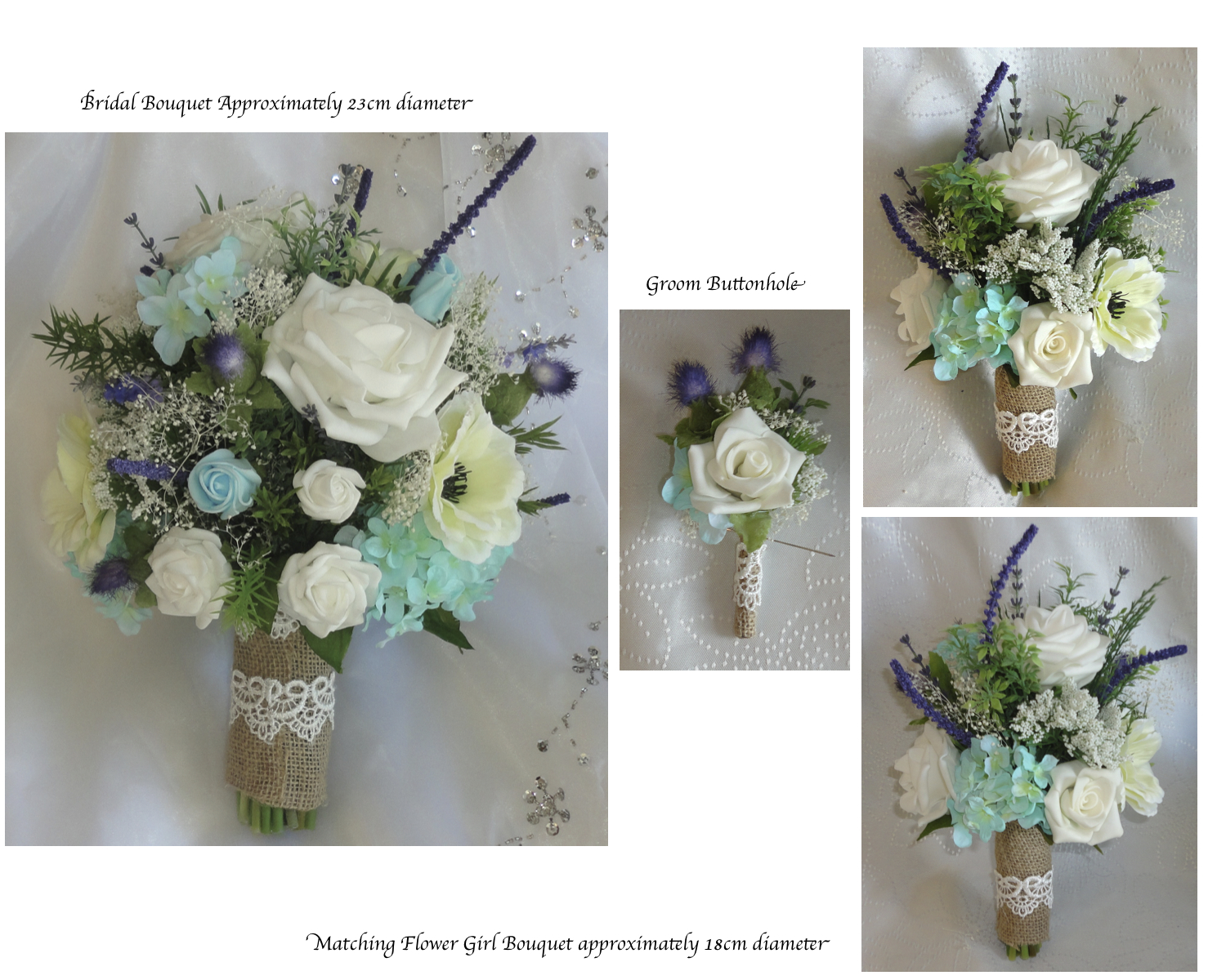 Mint Rustic Country Style Bridal Bouquet