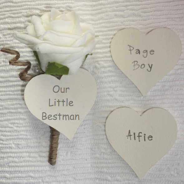 Page Boy Personalised Buttonhole