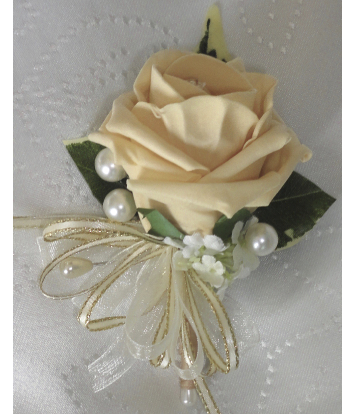 Champagne Gold Rose Corsage for Weddings & Special Occasions