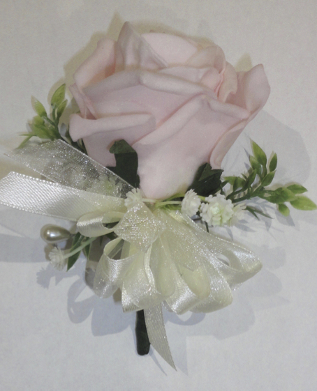Pale Pink Rose & Gypsophila Corsage