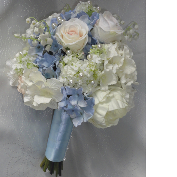 Pastel Wedding Flowers: Silk Wedding Bouquets