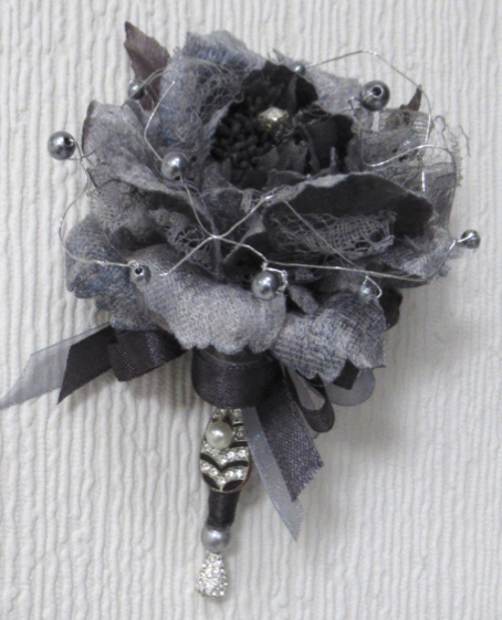 Pewter Grey Rose Corsage