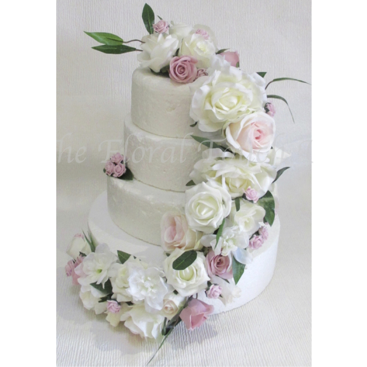 Stunning Pink & Ivory Avalanche Cake Cascade