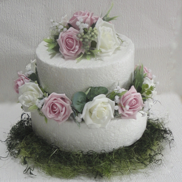 Rustic Rose, Gypsophila & Berry Cake Topper
