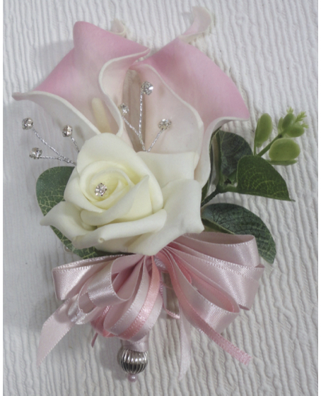 Pale Pink Real Touch Calla Lily Corsage