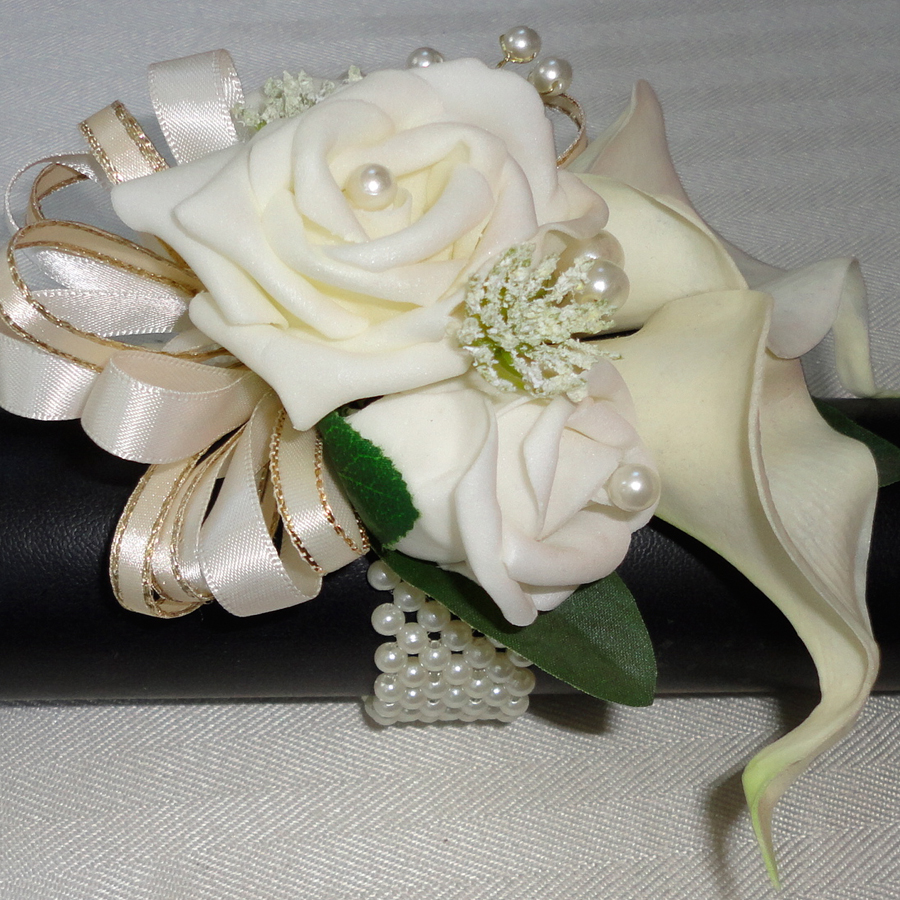 Real Touch Calla Lily Wrist Corsage