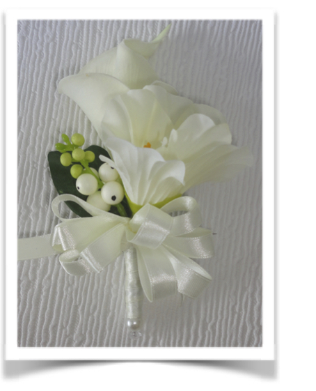 Freesia & Real Touch Calla Lily Corsage