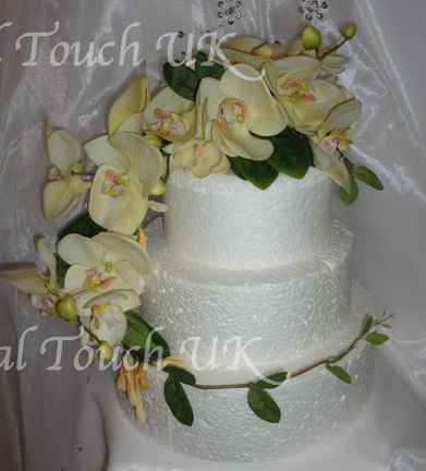 Real Touch Cream Orchid Trailing Cake Topper