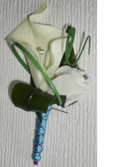 Real Touch Calla Lily Buttonhole