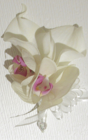 Real Touch Orchid & Calla Lily Corsage