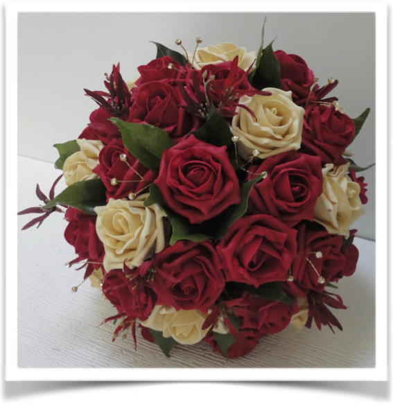 Wedding Flowers Red And Gold Silk Bouquets The Floral Touch Uk South Yorkshire