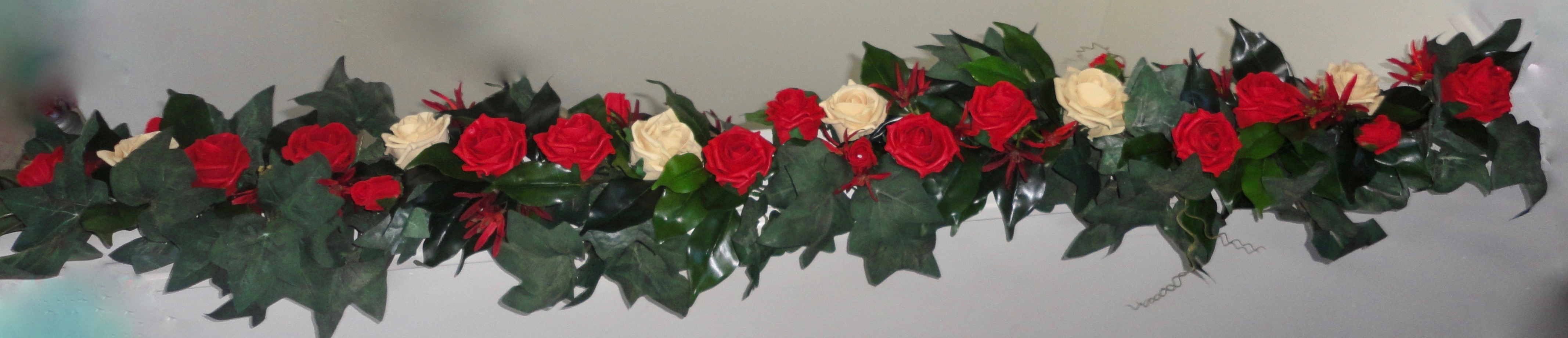 Wedding Garlands - red rose wedding garland